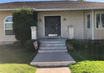 old front porch upgraded to new cache valley