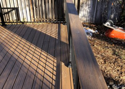 newly repaired deck in logan utah