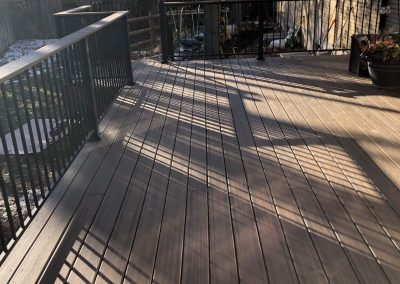 newly repaired outdoor deck