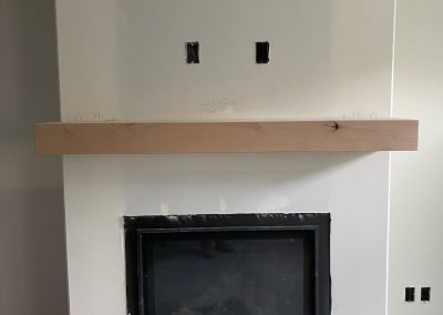 fire place being remodeled