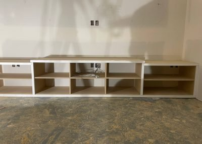 shelves being remodeled