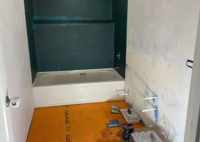 shower beign remodeled