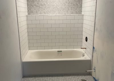 remodeled shower in cache valley ut